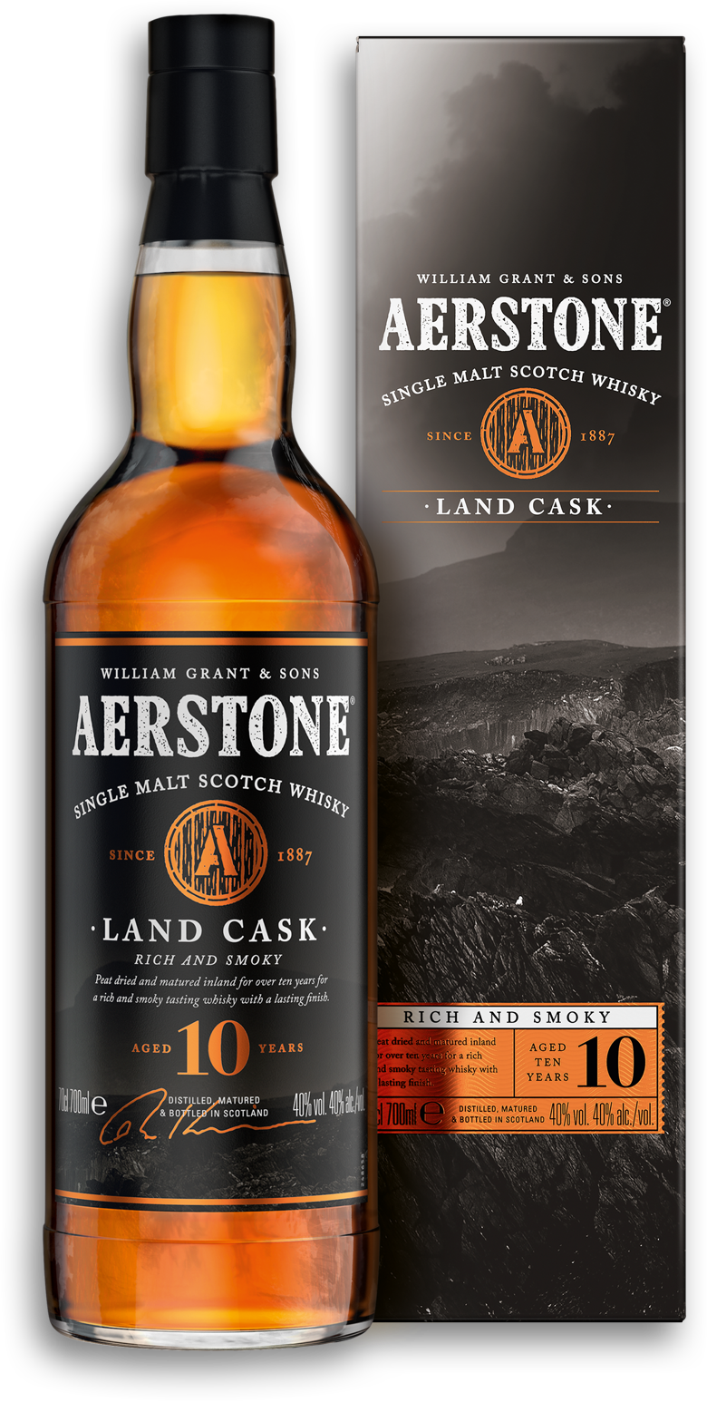 Aerstone Land Cask Bottle and Packaging
