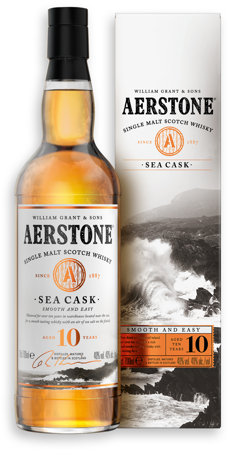 Aerstone Sea Cask Bottle and Packaging